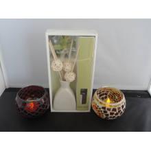 Vanilla Aroma Reed Difusor + Mosaico Candle Holder