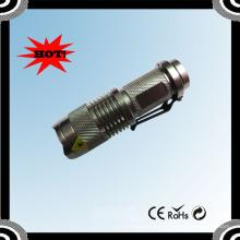 X1 Super brilhante recarregável XPE R2 Telescópica Mini luz LED preto