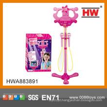 Microfone de brinquedo de plástico Multifuncional de chegada nova com suporte para meninas