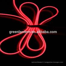 La vente chaude AC110V / 220V 8x16mm Mini flex a mené la lumière de corde de néon pour la décoration d'intérieur / extérieure / de vacances