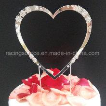 Sparkly Diamantee Single Herz Kuchen Dekoration Hochzeitstorte Topper Herz