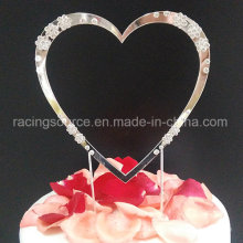 Sparkly Diamantee Single Heart Cake Decoration Wedding Cake Topper Heart