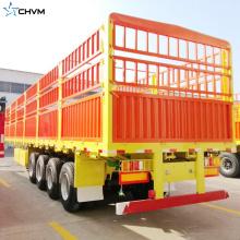 Remorque de cargaison de barrière de mur latéral de 80 tonnes