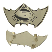 Custom Metal Zinc Alloy Logo Brand Logo Tag in Brushed Silver Color