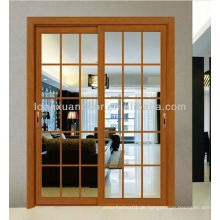 Aluminium-Schiebetür, Fiberglas-Tür mit modernem Grill-Design