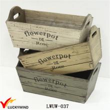 Multi-Color plantador de madeira afligido para uso interior jardim