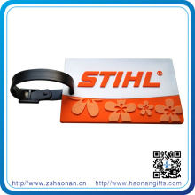 Custom Soft PVC Luggage Strap with Embossed Logo for Gift