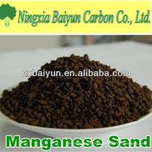 35% de areia verde de manganês para remoção de ferro da água