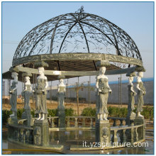 Vita all'aperto Dimensione Lady Colonna Multi Color Marble Gazebo