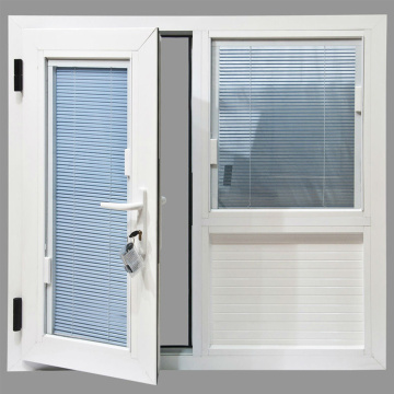 UPVC Window dengan Built-in Blinds Design Foshan Factory