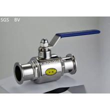 Нержавеющая сталь санитарно зажатый прямой 2-ходовой шаровой кран