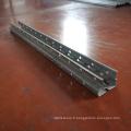 Petit pain en métal de support de stockage d'armature en acier en métal formant la machine pour le purline avec la perforation en ligne de trou