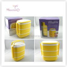 Geschirr Lebensmittelqualität Kunststoff 3-Schicht-Thermal-Lunch-Box