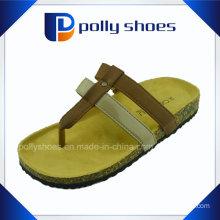 Sale PU Slipper Sexy Cork Flip Flop for Ladies