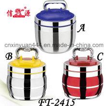 Transportadora de alimentos alta qualidade aço inoxidável com tampa plástica (FT-2415)