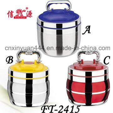 Высокое качество нержавеющей стали пищи перевозчика с пластиковой крышкой (FT-2415)