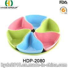 Placa de Snack do fibra de bambu bonito Eco-Freindly (HDP-2080)