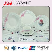 Placa cerâmica ajustada dos utensílios de mesa novos da porcelana nova do projeto de China do osso