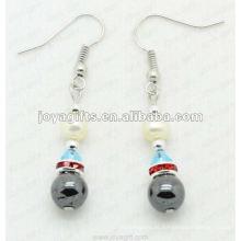 Magnético Hematite Pearl Beads Brincos