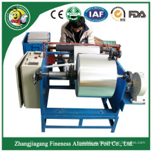 Rebobinadora de rollo de papel de aluminio excelente venta loca de grado superior