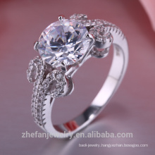 New Model Wedding hot Design Crystal white AAA zircon 925 silver Rings Jewelry No nickel Lead-free No chrome