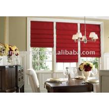 Red cotton roman curtain