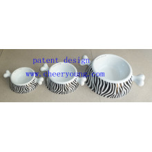 Liquidación de inventario de tazón de fuente del animal doméstico (CY-D1007) porcelana