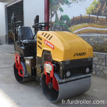 1 ton roller compactor double drum vibratory ride on road roller FYL-880