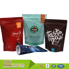 Wholesale Resealable Ziplock Custom Printed Stand Up Pouch For Coffee With Valve