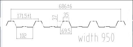 686 roof profile drawing