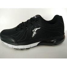 Hot Sale Black Kpu Men Running Shoes