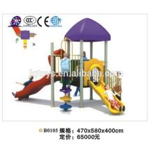 B0105 Juegos infantiles de plástico / tobogán combinado niños / parque de atracciones