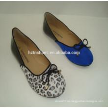 Весна 2015 моды Синяя черная сшивающая балерина обуви Lady Flat Shoes