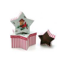 Caixa de presente de papel de dia de Natal com estilo encantador