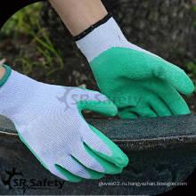 SRSAFETY 10 калибра зеленый поликатоновый лайнер с латексным покрытием латекс на ладони / рабочая перчатка / защитный шлем для внутренних лайнеров