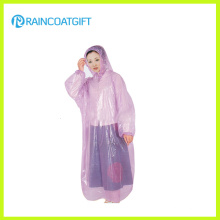 Transparent Plastic Disposable Raincoat with Long Sleeve