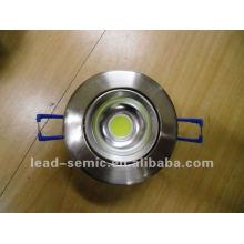 LED de teto liht 6W COB para uso doméstico / bussiness branco níquel dourado