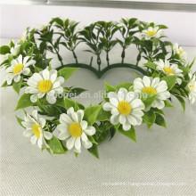 Cheap hanging artificial flower wreath for window decor
