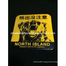 10*10cm Warning Reflective Sticker