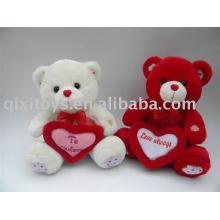 plsuh y peluche San Valentín oso de peluche con corazón