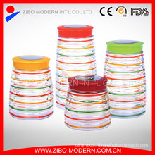 Набор стеклянных пищевых продуктов из прозрачного стекла 4 шт.