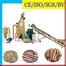 Línea de producción de pellets de madera dura de cáscara de arroz de desechos de biomasa con CE