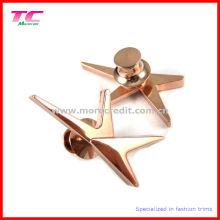 Pin de solapa de oro de alta calidad con broche de mariposa