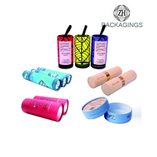 OEM cosmetic cardboard tube with powder shaker