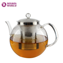 Best Selling Products Heat Resistant Borosilicate Glass Teapot With Tea Infuser To Boil Water Wholesale