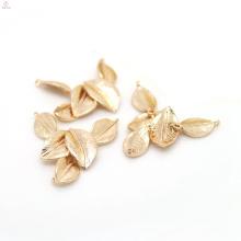 Mobilizable Environmental Copper Metal Bracelet 24K Gold Leaf Charms