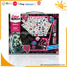 Monster High Tattoo Set mit Schablone