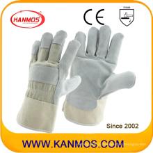 Серые защитные перчатки для промышленной безопасности из натуральной кожи (11003)
