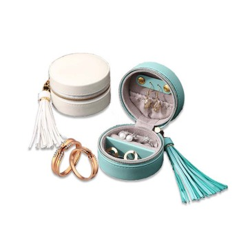 Custom Blue Round Jewelry Packaging Earring Storage Box