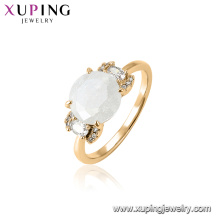 15455 xuping hot sale latest gemstone design funky finger ring for women